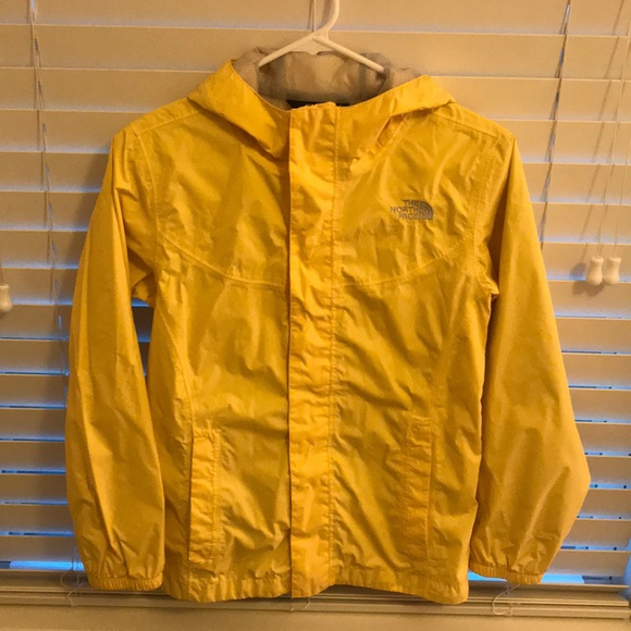 The North Face HyVent Yellow Hooded Jacket 1416